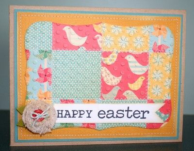 Happy Easter embossed card