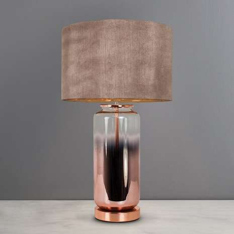 Metalic Ombre Copper Glass Table Lamp Copper Lamps Table Lamp