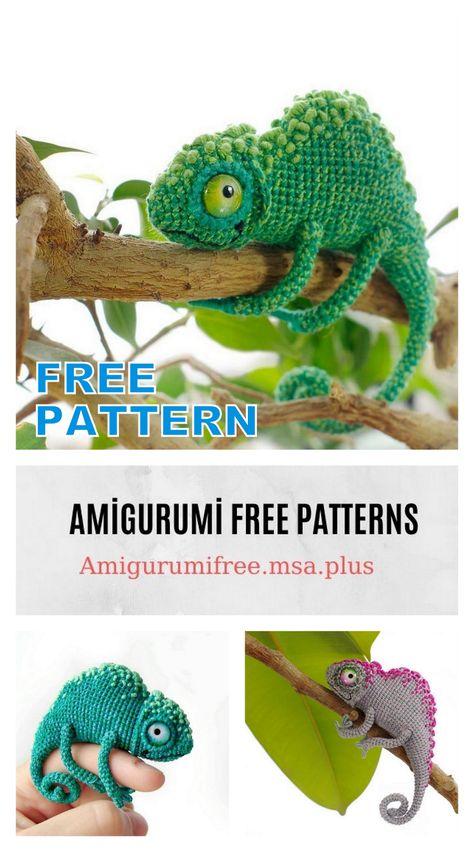 We Think These Tiny Crochet Chameleons Will Bring Us Good Karma ... | 852x474