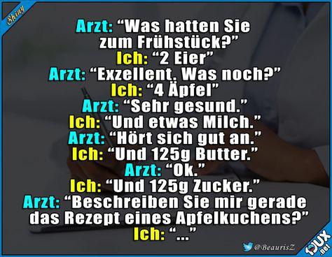 #Arzt #Apfelkuchen #Arztwitz #Witz #Witze #lustigeBilder #Humor