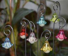 3 Glow In The Dark Flower Fairy Lights Lanterns Magical House Miniature