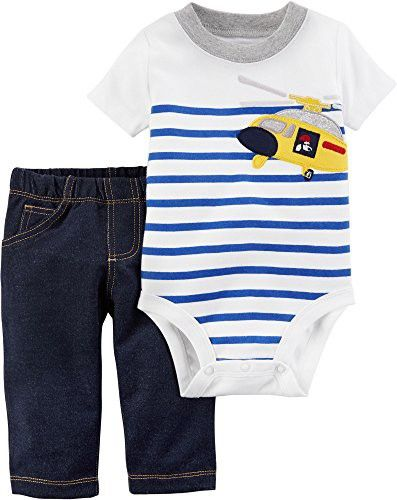Carter's Baby Boys' Bodysuit Pant Sets 121h164   Carters baby boys, Kids  outfits, Cotton bodysuit