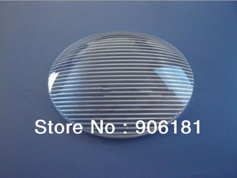CPR-48.35  High quality LED Optical Lens, Lens Size: 48.35X10mm, 60 degree, Stripe surface, PMMA materials