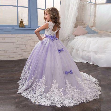 53a938304922c Light Purple Flower Girl Dresses Ball Gown Party Pageant Dress For Wedding  Little Girl Kids/Children on Luulla