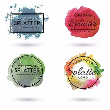Logos Doces Png Images Vetores E Arquivos Psd Download Gratis Em Pngtree Watercolor Splatter How To Draw Hands Watercolor Logo