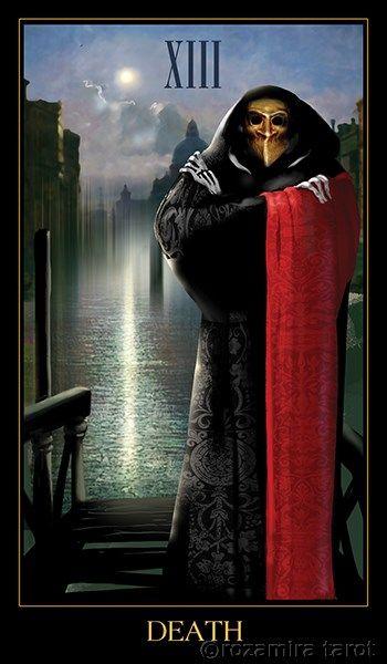 Venetian Tarot The Death Venetian Tarot Karta Smrt Tarot