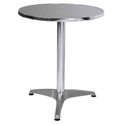 Bistro Round Table In Aluminium Steel Dining Table Glass Dining