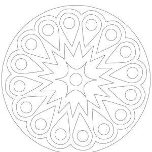 Coloring Mandela تلوين للكبار مطبوعات مجانية Mandala Drawing Decorative Plates Symbols Art