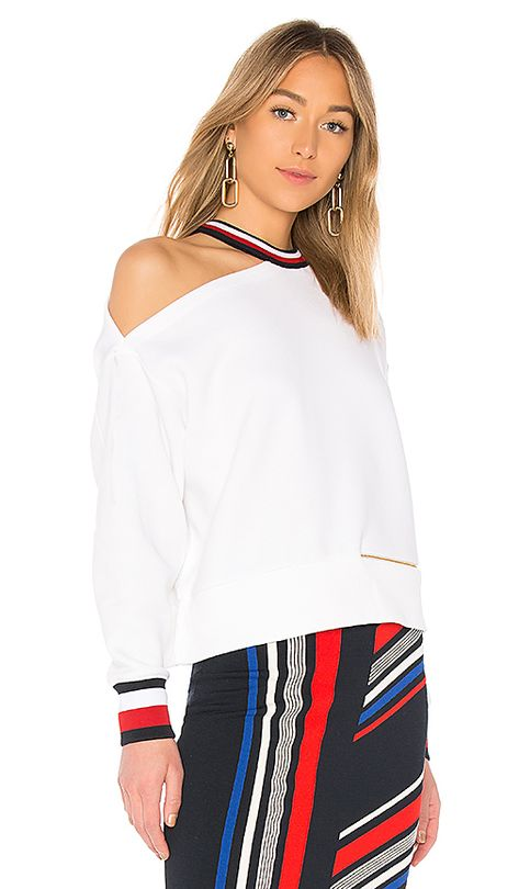 439f79a3e Shop for Tommy Hilfiger TOMMY X GIGI Gigi Hadid Open Shoulder LS Sweater in  Classic White at REVOLVE. Free 2-3 day shipping and returns, 30 day price  match ...