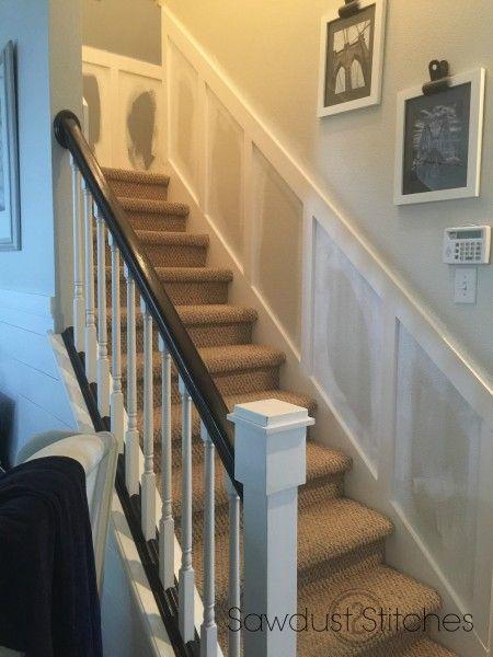 stairwell makeover sawdust2stitches.com