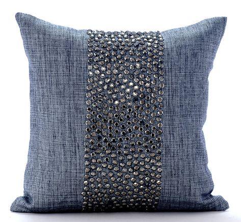 Decorative Gray Pillow Cushion 16x16