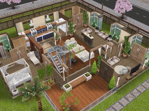 House 61 Ground Level Sims Simsfreeplay Simshousedesign