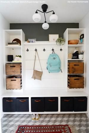 at this mudroom! Here's how to hack it in a day Look at this mudroom! Here's how to hack it in a day - IKEA HackersLook at this mudroom! Here's how to hack it in a day - IKEA Hackers Entrada Ikea, Hm Deco, Hacks Ikea, Ikea Hack Storage, Ikea Furniture Hacks, Storage Ideas, Storage Units, Furniture Stores, Diy Hacks