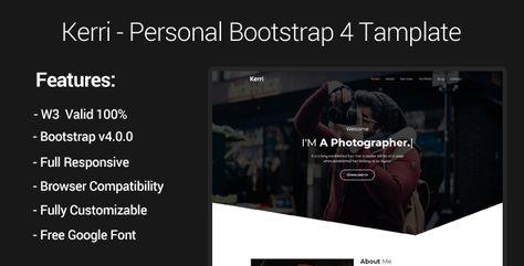 Kerri - Responsive Bootstrap 4 One Page Portfolio Template by SRBThemes