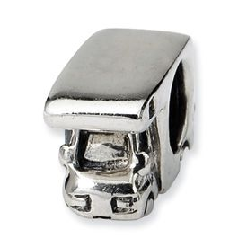 Sterling RV 5th Wheel TRAVEL TRAILER Bead Charm for all Name Brand Add a Bead Bracelets Heavy 3D