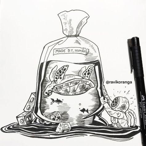 31 Ilustrações Que Mostram O Estrago Que O Plástico Causa No Planeta