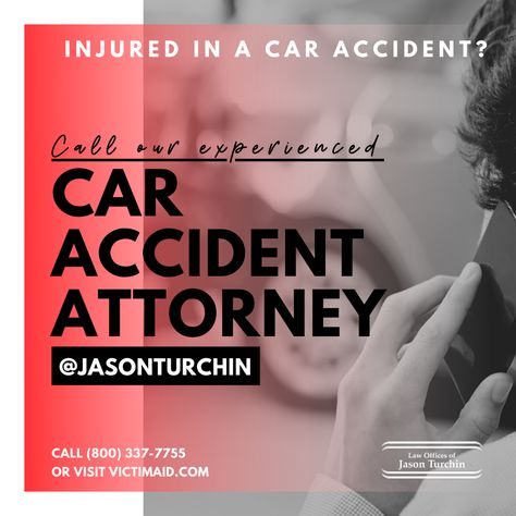 Jason Turchin and his team of car accident attorneys helping car crash victims