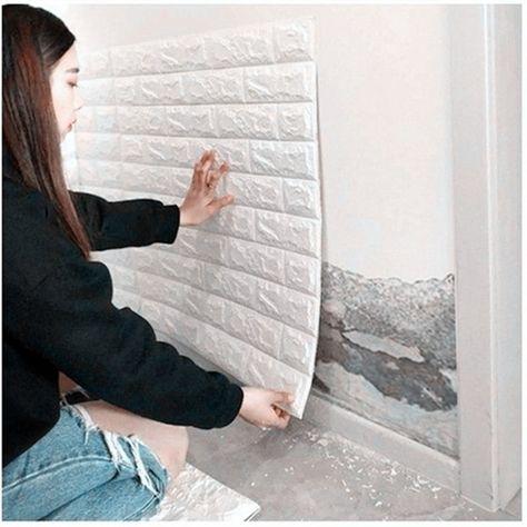 DIY Wall Stickers Self Adhesive Foam Brick Room Decor Wallpaper Wall Decor Living Wall Sticker For Kids Room Cheap Wall Stickers, Wall Decor Stickers, Diy Wall Decor, Home Decor, Brick Room, Brick Wall, Diy Tapete, Leather Wall Panels, Diy Wallpaper