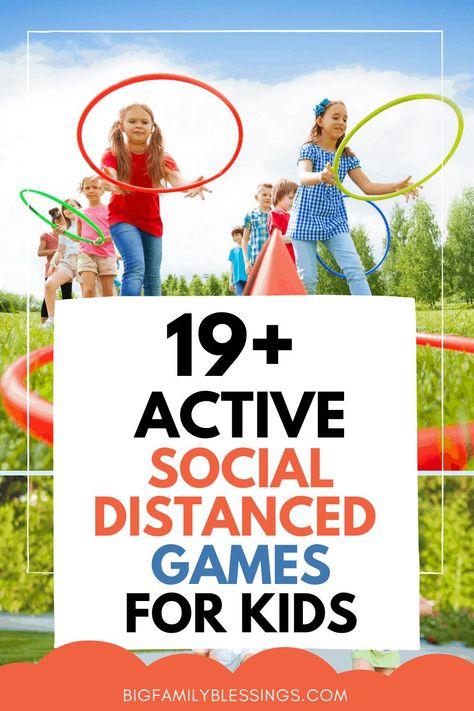 Socially Distanced Game Ideas for Kids. In a time when social distancing is important, kids still need real life relationships with others, and they also need to be active. These socially distanced game ideas for kids will get your kids up and moving while also allowing them to spend socially distanced time with friends. social distancing game ideas.