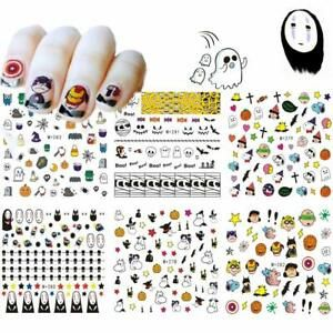 Halloween Nail Art Stickers 6 Sheets Water Transfer Nail Decals For Woman Girls Halloween Nail Halloween Nail Art Nail D Nail Art Stickers Halloween Nail Art