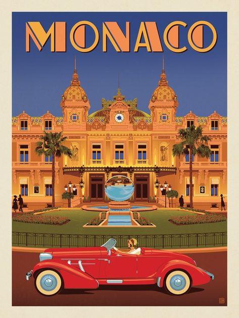 Anderson design group – world travel – monaco: monte carlo casino art deco posters, Retro Poster, Art Deco Posters, Vintage Travel Posters, Poster Prints, Vintage Travel Decor, Art Print, Monte Carlo Casino, Monte Carlo Monaco, Dibujos Pin Up