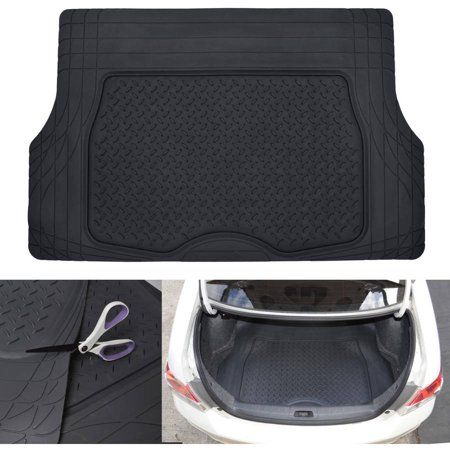 Motortrend Heavy Duty Premium Rubber Cargo Mat Trimmable Trunk