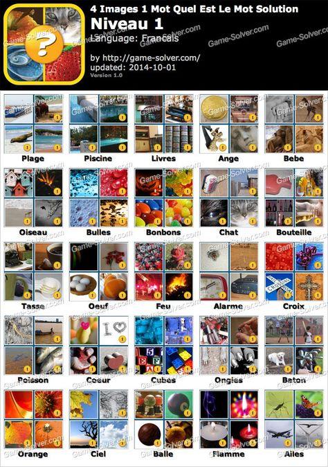 Jeux 4 Images 1 Mot Solution Niveau 1 Recherche Google 4 Image Bouteille Solution