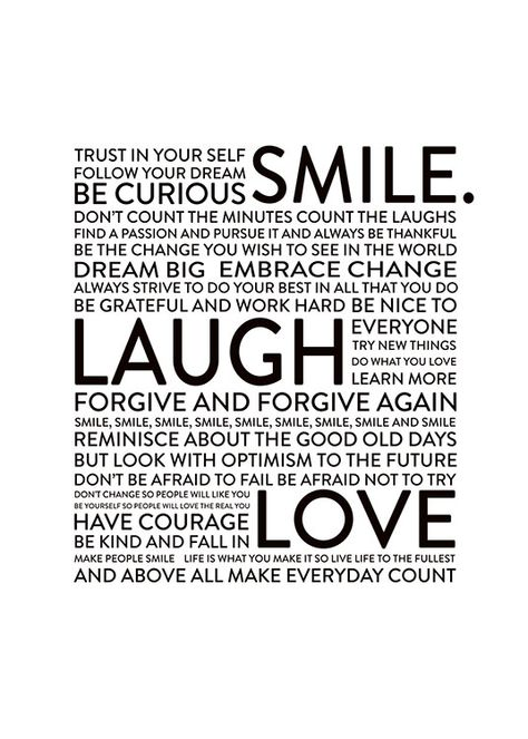 Smile Laugh Love, posters in the group Posters & Prints / Sizes / 30x40cm | 11,8x15,7 at Desenio AB (8565)