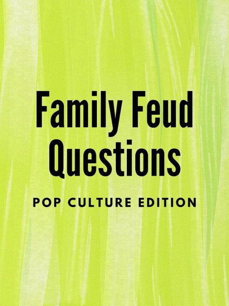 Family Feud is a great game for family and friends of all ages. Here is a list of playable and funny pop culture Family Feud questions. Family Quiz, Family Games, Family Feud Game Questions, Naughty Kids, Challenge Games, Tv Show Games, Minute To Win It, Thanksgiving Games, Christmas Games
