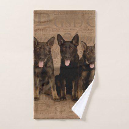 German Shepherd Puppies Bath Towel Set German Shepherd Puppy