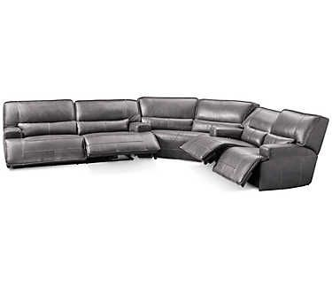 Sensational Dylan 3 Piece Power Leather Sectional Cape Cod Living Room Inzonedesignstudio Interior Chair Design Inzonedesignstudiocom