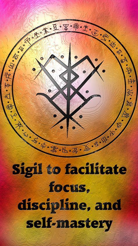 Sigil to facilitate focus, discipline, and self-mastery