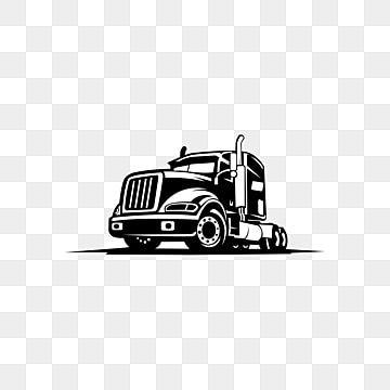 Um Modelo De Caminhao Logotipo Frete Entrega Logistica Trailer Logo Truck And Trailer Tow Truck