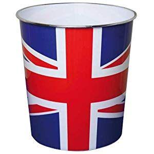 25/x/26,5/cm JVL Papierkorb Motiv Britische Flagge/// Union Jack