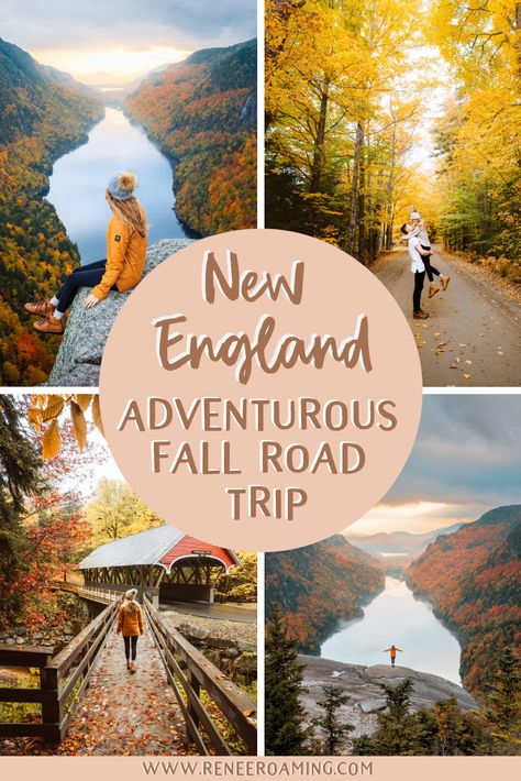 New England Fall Road Trip – Ultimate 5 Day Leaf Peeping Itinerary New England Fall, New England Travel, New England Day Trips, New Hampshire, Cool Places To Visit, Places To Travel, New York In Fall, Us Road Trip, Places