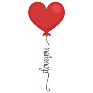 Silhouette Design Store - View Design #116061: i love you valentine balloon