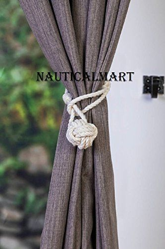 Nauticalmart Curtain Tiebacks Small Knot Nautical Style W Https