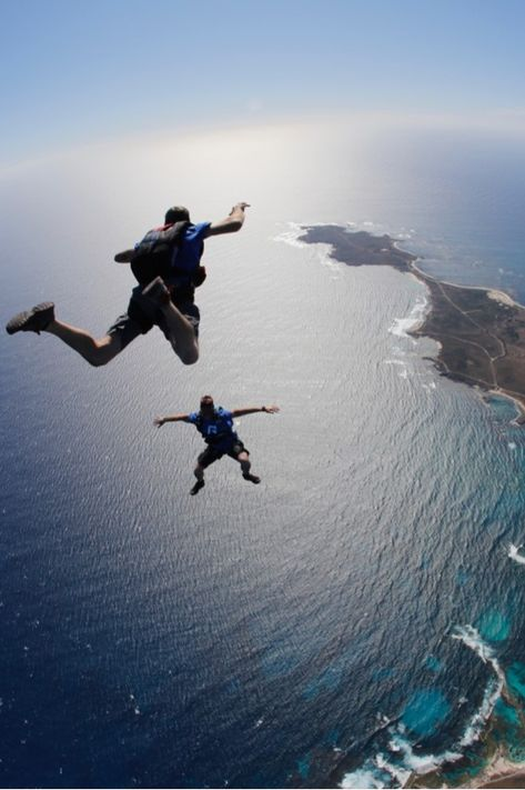 The best way to arrive on Rottnest - by parachute of course For the first time ever you can now skydive on Rottnest island with Skydive Geronimo. Get the most spectacular views of Rotto, Perth, Freo and beyond. Paris one of the wonders of the world Western Australia, Australia Travel, Adventure Awaits, Adventure Travel, Adventure Photos, Kayak, Skydiving, Roller Derby, Adventure Is Out There