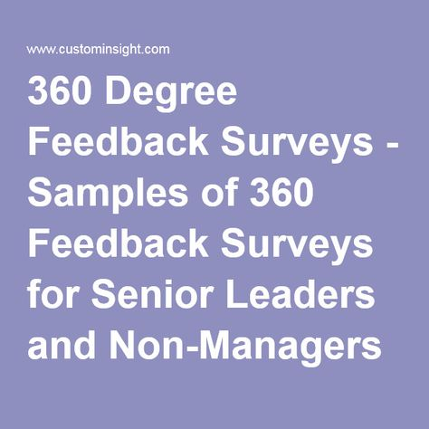Benefits of 360 Degree Feedback While #Performance Appraisal - 360 degree feedback form