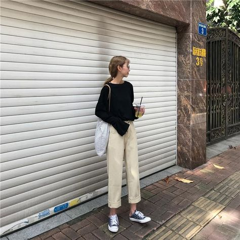 Jeans Denim Women New Chic Solid Simple High Waist Straight Zipper All-match Womens Korean Style Loose Fashion Students Daily