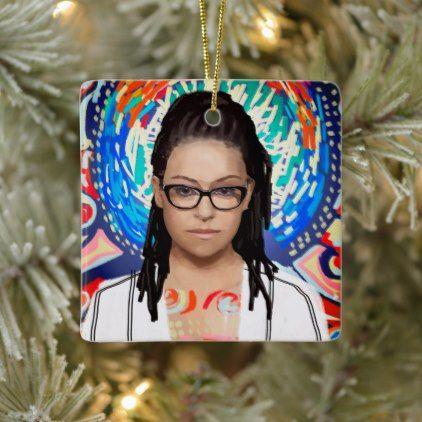 Orphan Black Cosima Niehaus Geek Chic Ceramic Ornament Zazzle Com Geek Chic Glasses Geek Chic Decor Geek Girl Fashion