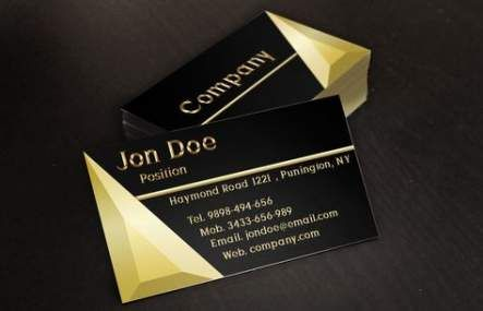 New Jewerly Desing Business Card Simple