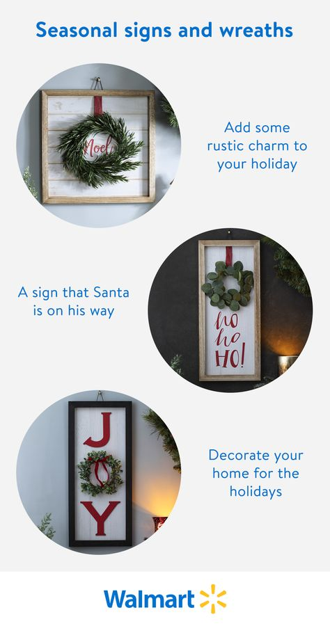 Embrace the holiday spirit with a festive sign for your wall. Shop Walmart for all your seasonal decorations including the tree, wreaths, lights, and more!