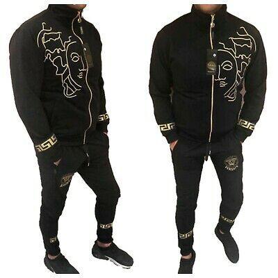 black S-3XL Versace Man/'s Tracksuit