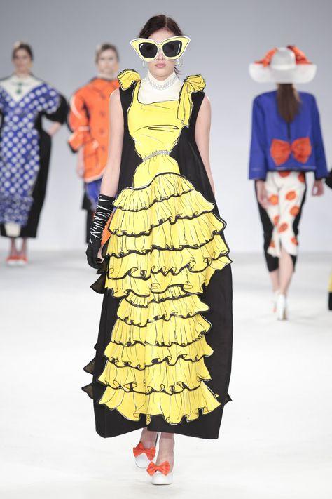 avant garde couture picture fairytale princess dresses fun University of Central Lancashire graduate fashion show