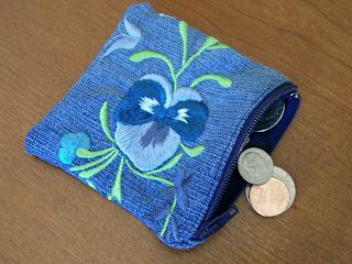 """What a great idea, from my favorite WLS blogger. Made from an old pair of jeans to remind her that she's """"never going back"""". Thanks @Michelle Vicari!"""