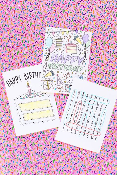 Free Printable Birthday Cards For Kids Pinterest Cumpleaos