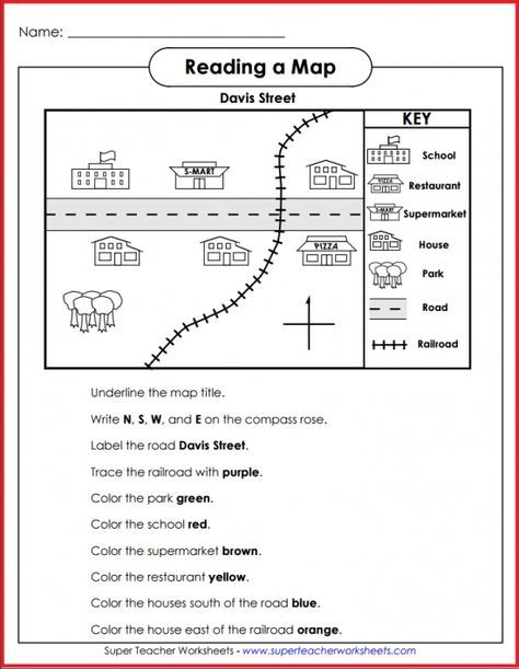 Teach Basic Map Skills With This Printable Map Activity Students