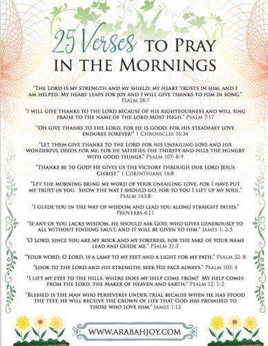 25 Scriptures to Pray in the Morning | Blog for Christian