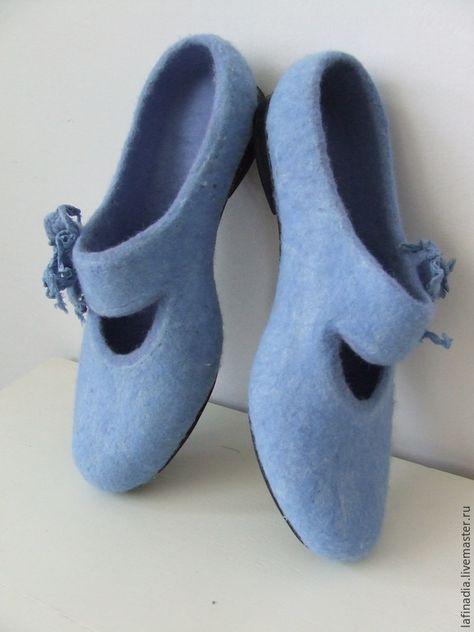 Женские сумки ручной работы. Ярмарка Мастеров - ручная работа. Купить  Валяные туфли